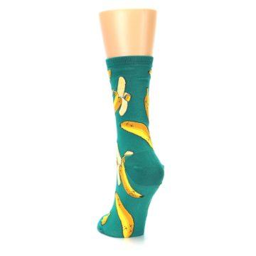 Image of Emerald Green Bananas Women's Dress Socks (side-2-back-16)