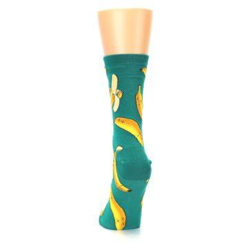 Image of Emerald Green Bananas Women's Dress Socks (back-17)