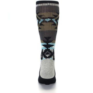 Image of Brown Blue Black Design Men's Casual Socks (back-18)