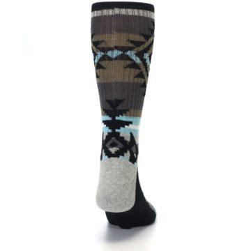 Image of Brown Blue Black Design Men's Casual Socks (back-19)