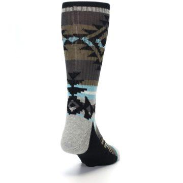 Image of Brown Blue Black Design Men's Casual Socks (side-1-back-20)