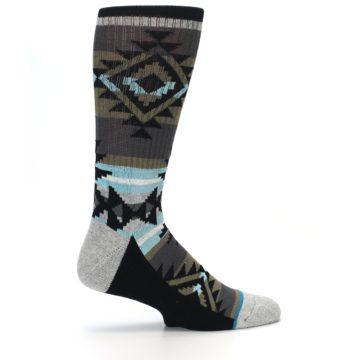 Image of Brown Blue Black Design Men's Casual Socks (side-1-24)