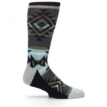 Image of Brown Blue Black Design Men's Casual Socks (side-1-25)