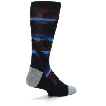 Image of Black Triangle Pattern Men's Casual Socks (side-1-back-22)