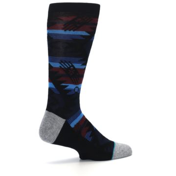 Image of Black Triangle Pattern Men's Casual Socks (side-1-23)