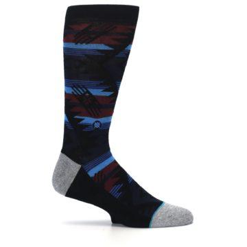 Image of Black Triangle Pattern Men's Casual Socks (side-1-25)