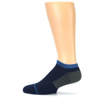 Image of Navy Grey Men's Athletic Ankle Socks (side-2-12)