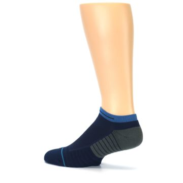 Image of Navy Grey Men's Athletic Ankle Socks (side-2-13)