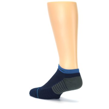 Image of Navy Grey Men's Athletic Ankle Socks (side-2-back-14)