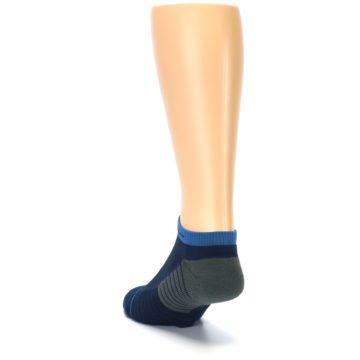 Image of Navy Grey Men's Athletic Ankle Socks (side-2-back-16)