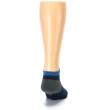 Image of Navy Grey Men's Athletic Ankle Socks (back-19)