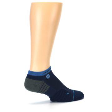 Image of Navy Grey Men's Athletic Ankle Socks (side-1-23)