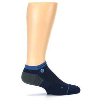 Image of Navy Grey Men's Athletic Ankle Socks (side-1-24)