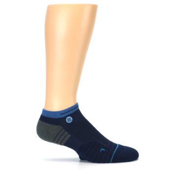 Image of Navy Grey Men's Athletic Ankle Socks (side-1-25)