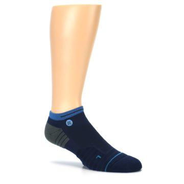 Image of Navy Grey Men's Athletic Ankle Socks (side-1-27)