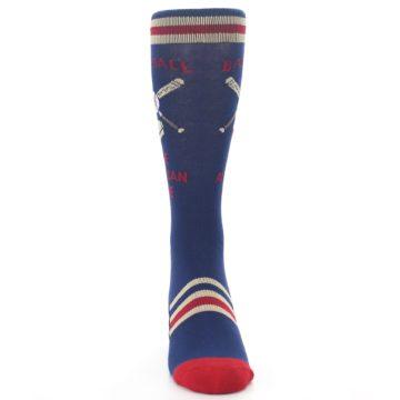 Image of Navy Baseball Sport US Made Men's Dress Socks (front-04)