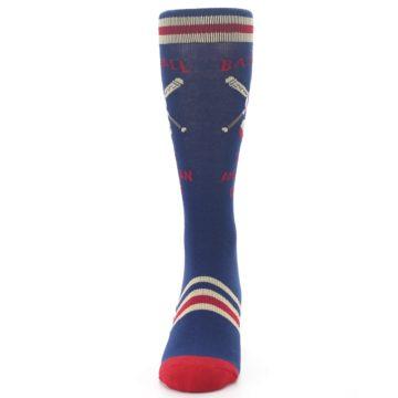 Image of Navy Baseball Sport US Made Men's Dress Socks (front-05)