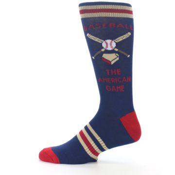 Image of Navy Baseball Sport US Made Men's Dress Socks (side-2-12)