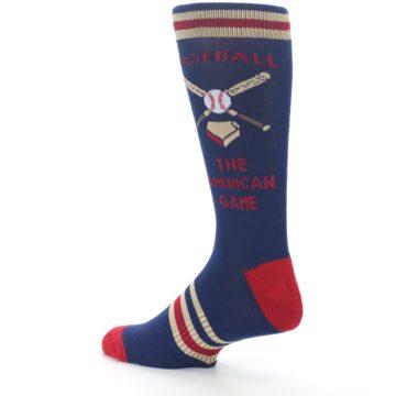 Image of Navy Baseball Sport US Made Men's Dress Socks (side-2-back-14)