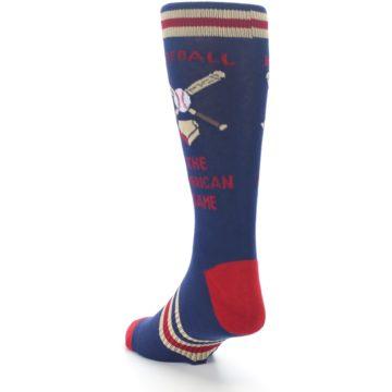 Image of Navy Baseball Sport US Made Men's Dress Socks (side-2-back-16)