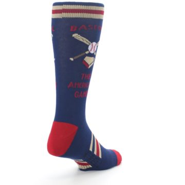Image of Navy Baseball Sport US Made Men's Dress Socks (side-1-back-21)