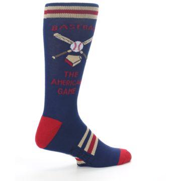 Image of Navy Baseball Sport US Made Men's Dress Socks (side-1-23)