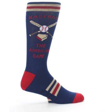 Image of Navy Baseball Sport US Made Men's Dress Socks (side-1-24)