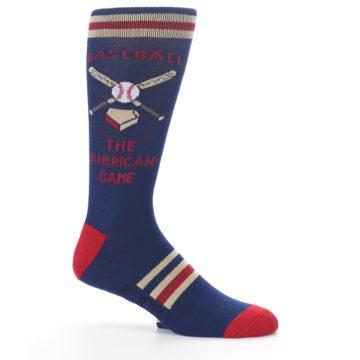 Image of Navy Baseball Sport US Made Men's Dress Socks (side-1-25)
