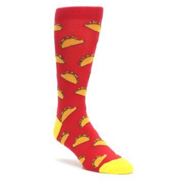 Red-Orange-Tacos-Mens-Dress-Socks-K-Bell-Socks