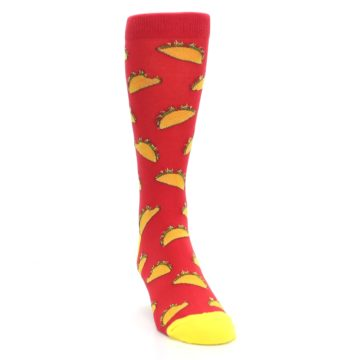Image of Red Orange Tacos Men's Dress Socks (side-1-front-03)