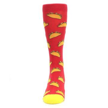 Image of Red Orange Tacos Men's Dress Socks (front-05)