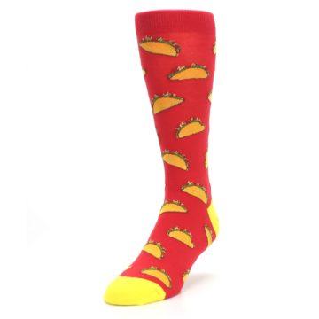 Image of Red Orange Tacos Men's Dress Socks (side-2-front-07)