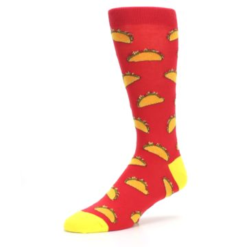 Image of Red Orange Tacos Men's Dress Socks (side-2-09)