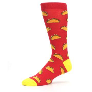 Image of Red Orange Tacos Men's Dress Socks (side-2-10)