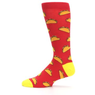 Image of Red Orange Tacos Men's Dress Socks (side-2-12)