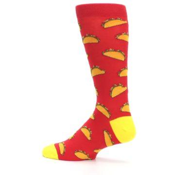 Image of Red Orange Tacos Men's Dress Socks (side-2-13)