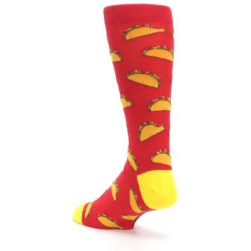 Image of Red Orange Tacos Men's Dress Socks (side-2-back-15)