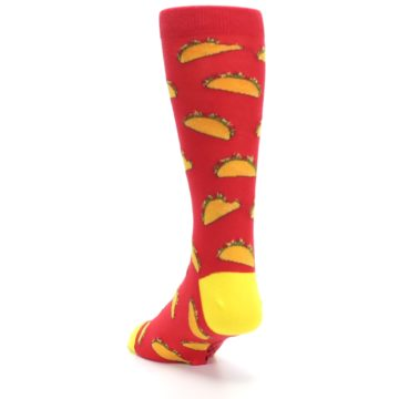 Image of Red Orange Tacos Men's Dress Socks (side-2-back-16)