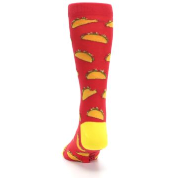 Image of Red Orange Tacos Men's Dress Socks (back-17)