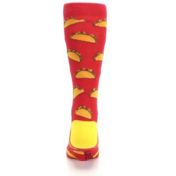 Image of Red Orange Tacos Men's Dress Socks (back-18)