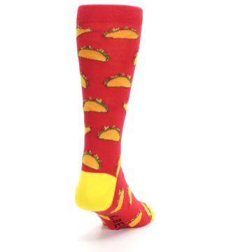 Image of Red Orange Tacos Men's Dress Socks (side-1-back-20)