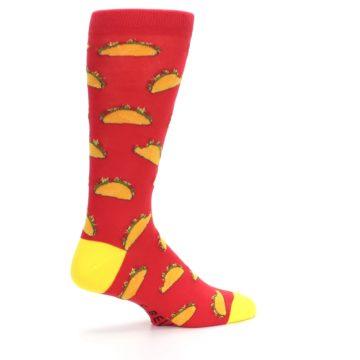 Image of Red Orange Tacos Men's Dress Socks (side-1-23)