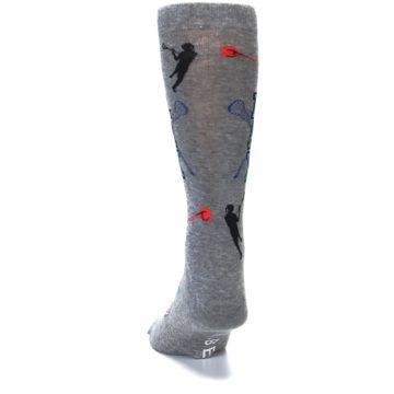 Image of Grey Lacrosse Sport Men's Dress Socks (back-17)