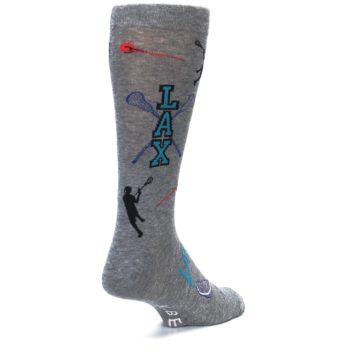 Image of Grey Lacrosse Sport Men's Dress Socks (side-1-back-21)