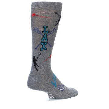 Image of Grey Lacrosse Sport Men's Dress Socks (side-1-back-22)