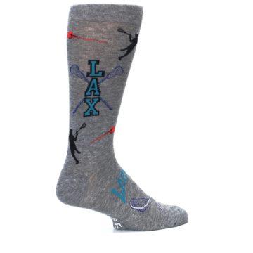 Image of Grey Lacrosse Sport Men's Dress Socks (side-1-23)
