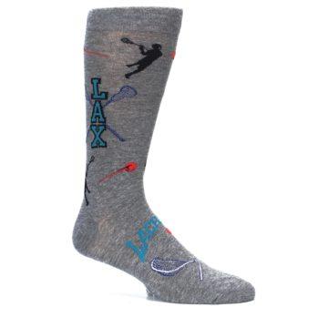 Image of Grey Lacrosse Sport Men's Dress Socks (side-1-26)