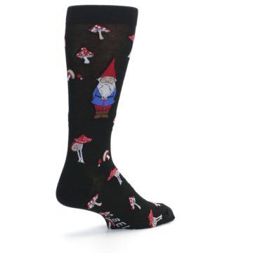 Image of Black Gnomes Mushrooms Men's Dress Socks (side-1-back-22)