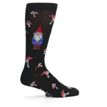 Image of Black Gnomes Mushrooms Men's Dress Socks (side-1-24)