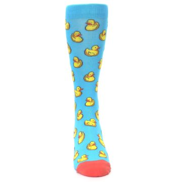 Image of Blue Yellow Rubber Ducks Men's Dress Socks (front-04)